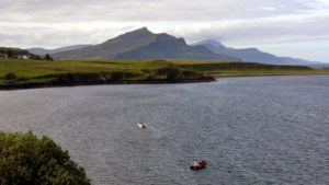 SeaMotion moored in Balmeanach Bay, south of Portree